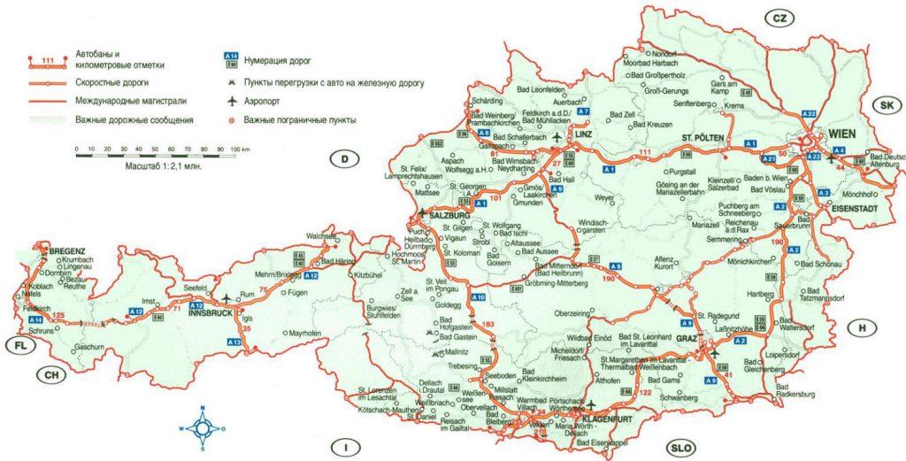 Kaart Oosenrijk