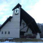 kerkje bovenop de berg in Petzen
